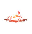 pool summer water swim relax concept vector image