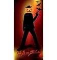 pumpkin head murderer vector image vector image