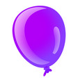 purple ballon icon cartoon style vector image