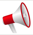 red megaphone vector image vector image