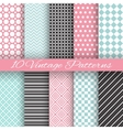 retro chic seamless pattern vector image vector image