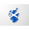 scotland map with shadow effect vector image vector image