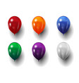set festive realistic balloons isolated on vector image