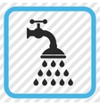 Shower Tap Icon In a Frame vector image