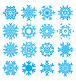 snowflake blue icon isolated on white background vector image
