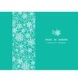 Snowflake Texture Horizontal Frame Seamless vector image vector image