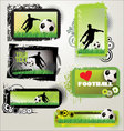 Soccer retro grunge banners vector | Price: 1 Credit (USD $1)