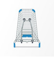 supermarket shopping cart 3d top view vector image