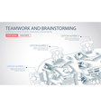 Teamwork Concept with Doodle design style vector image vector image