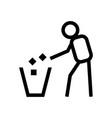 tidy man symbol on white background vector image