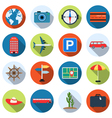 Travel and vacation icons collection vector image
