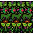 vintage floral design vector image vector image