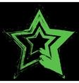 White Star Grunge vector image