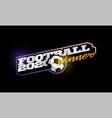 winner 2020 football logo modern professional vector image vector image