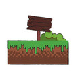 wooden signpost game item vector image vector image