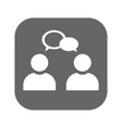 conversation icon isolated vector image