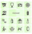 14 package icons vector image vector image