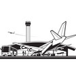 aircraft landed at airport vector image