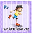 Alphabet R vector image vector image