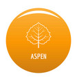 aspen leaf icon orange vector image vector image