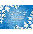 background leaves blue vector image vector image