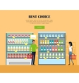 Best Choice Concept Banner in Flat Design vector image vector image