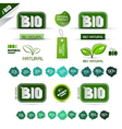Bio - Natural Product Green Labels - Tags - vector image vector image
