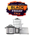 black friday sale clearance vector image vector image