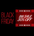 black friday shopping sale concept vector image vector image