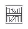 book shelf line icon sign on vector image vector image
