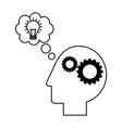 brain creativity idea vector image vector image