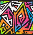 bright graffiti geometric seamless pattern vector image vector image