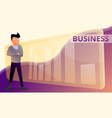 business graph concept banner cartoon style vector image