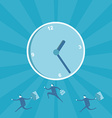 Business man running for time management vector image vector image