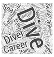 Careers in Diving Word Cloud Concept vector image vector image