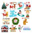 christmas clip arts vector image vector image