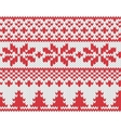 Christmas knitted background vector image vector image
