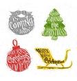 Christmas silhouettes beard vector image vector image