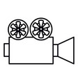 cinema film camera icon vector image vector image