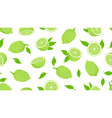 citrus pattern lime slices fresh juicy lemon vector image