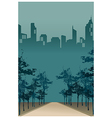 City Park Path Scene vector image vector image