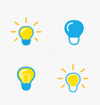 colorful light bulbs bulb icon set vector image vector image