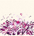 colorful purple music background vector image vector image