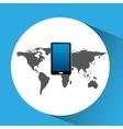 concept globe smartphone social media vector image vector image