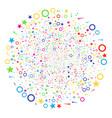confetti stars salute globula vector image vector image
