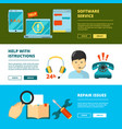 customer service banners technical support online vector image