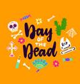 day dead handwritten card vector image vector image