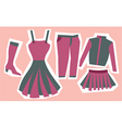 dresses vector image vector image