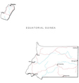 Equatorial Guinea Black White Map vector image vector image
