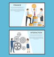 finance and interaction collection banners vector image